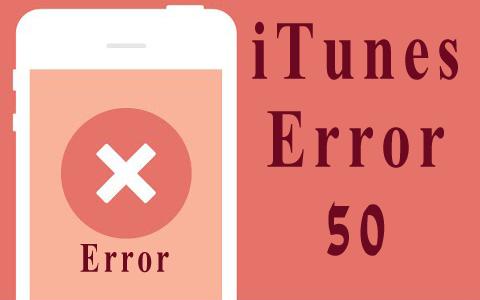 Cómo Arreglar iTunes Error 50 iPhone 4S/5/5C/5S/66+/6S/6S+ en Windows/Mac