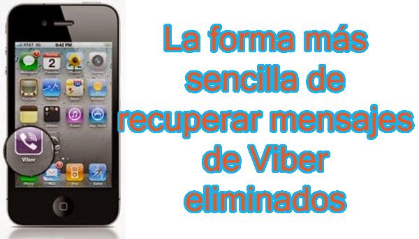 como recuperar las conversaciones del viber iphone