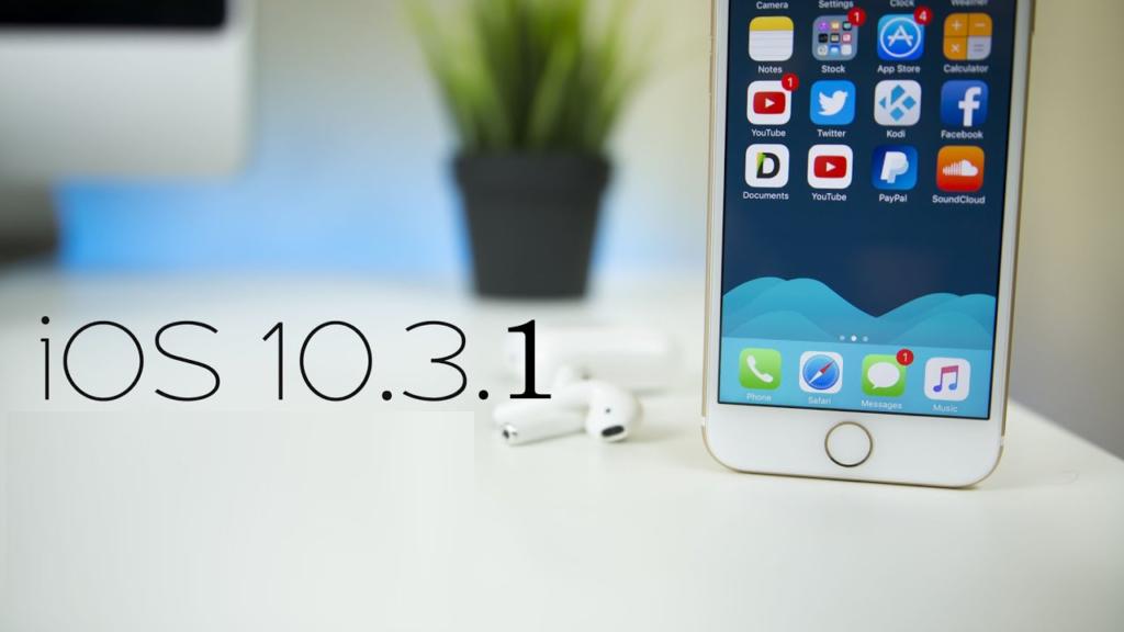 IOS 10.3.1 Actualizar