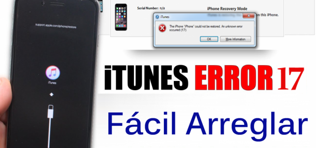 Cómo solucionar iTunes Error 17 al actualizar iPhone / iPad