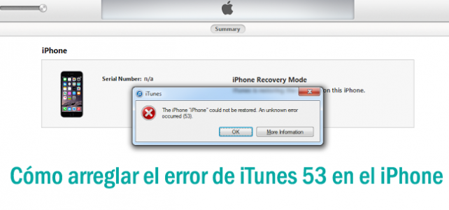 Cómo arreglar el error 53 de iTunes en Windows / Mac?