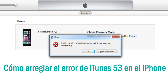 Cómo arreglar el error 53 de iTunes en Windows / Mac