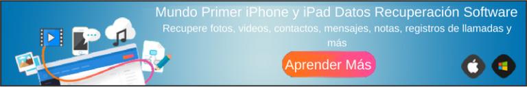 Tratar de iOS Datos Recuperación Ahora