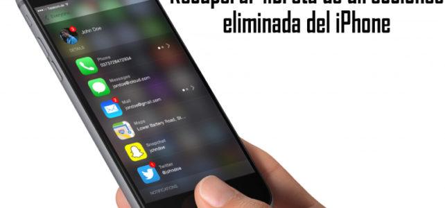 Cómo recuperar libreta direcciones eliminada del iPhone?
