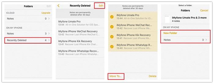 Recuperar en iphone la carpeta de añadidos recientemente