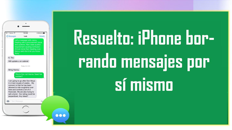 Cómo Arreglar Mensajes eliminados o desaparecidos del iPhone