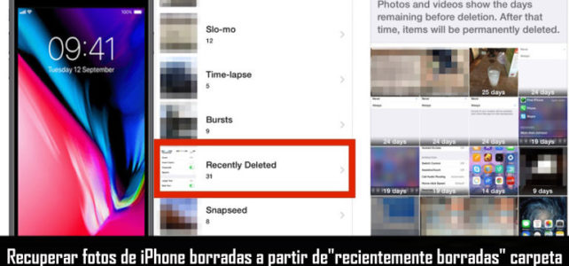 "3 maneras de recuperar fotos de iPhone borradas a partir de""recientemente borradas"" carpeta"