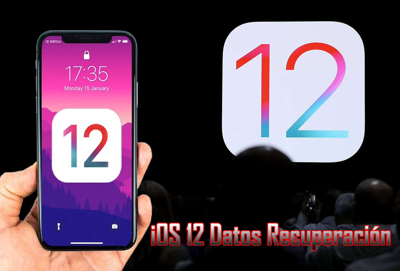 iOS 12 Datos Recuperación