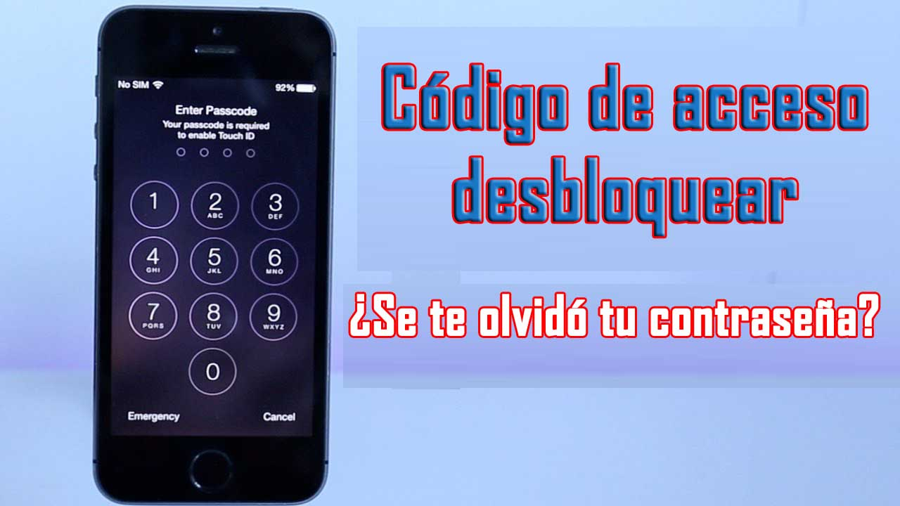 Desbloquear contraseña de iPhone sin restaurar