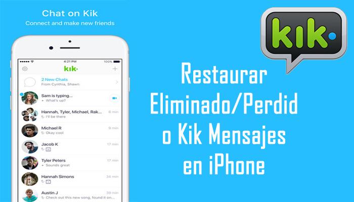 iPhone Kik Mensajes Recuperación