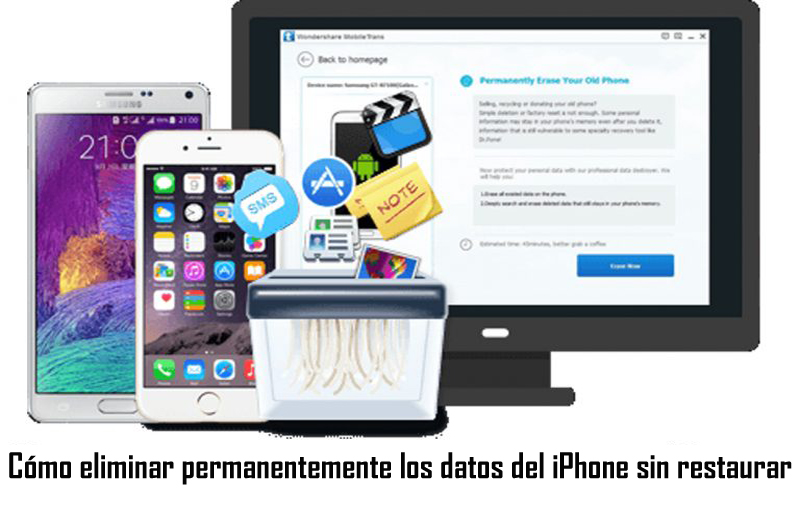 Cómo eliminar permanentemente los datos del iPhone sin restaurar