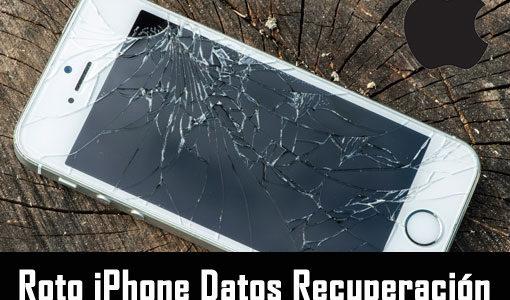 Roto iPhone Datos Recuperación: Recuperar datos de iPhone roto